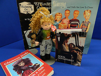 Lot of doll reference books and Ty Beanie Bopper doll, UFDC 233-2017