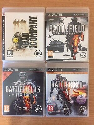 Battlefield Bundle Collection Sony Playstation 3 PS3 Game Used * 4 Games