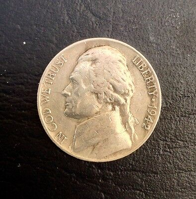 1942-D  5c Jefferson Nickel coin Type 1