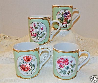 Set (4) WINTERTHUR Adaption Coffee Tea Cups Andrea by Sadek James K. Polk 1846