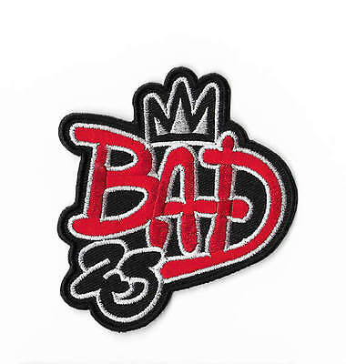 BAD 25th Anniversary Patch 9cm Michael Jackson Embroidered Badge MJ Costume Bag