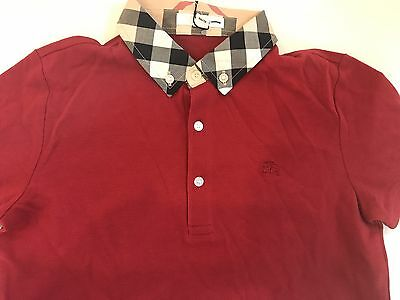 $90 Authentic Burberry Children / Kids Red Polo. Boys / Girls   Size 12Y