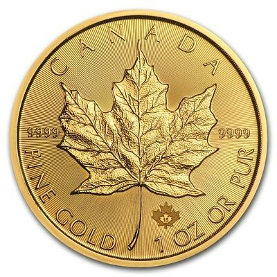 1 oz 2016 Gold (Canada) Canadian Maple Leaf $50 BU