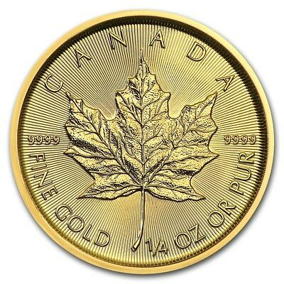 1/4 oz 2016 Gold (Canada) Canadian Maple Leaf $10 BU