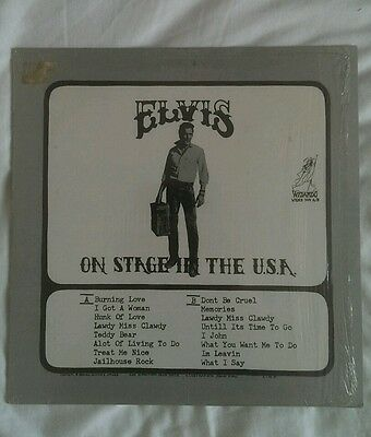 Elvis On Stage In The Usa Wizardo Records Wrmb 304 a/b