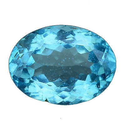 1.970 Cts Wonderful Luster Blue Green Natural Apatite Oval Gemstones