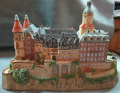 1994 Danbury Mint Copy Of The Enchanted KSIAZ CASTLE That Is In Silesia, Poland