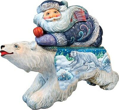 Polar Bear Surprise Santa Box by G. DeBrekht Christmas Figurine LTD Edition