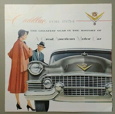 1954 Cadillac Advertisement Brochure Series 60 62 Coupe de Ville Eldorado