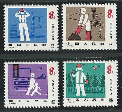 VR China Mi.-Nr. 1698 - 1701  ** MNH, 1981, J65 National Safety Month