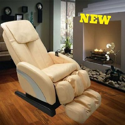 Full Body Massage Chair Recliner Leather Heated Armchair Relax Shiatsu Airbag