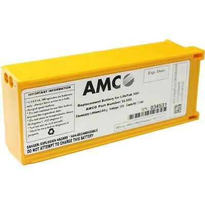 LifePak 500 AED Replacement Battery - AMCO - NEW EXP DATE