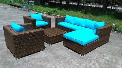 New PE Rattan / Wicker Outdoor Patio Furniture Set Chairs / Lounger Coffee Table
