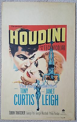 HOUDINI-Tony Curtis/Janet Leigh/George Pal/Magic-Window Card Poster-1953