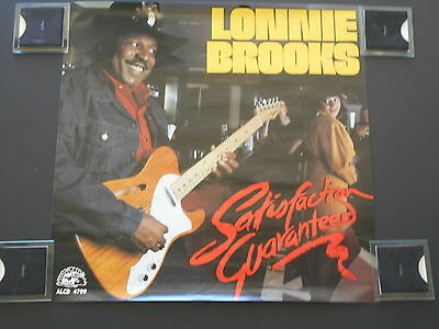 Vintage Lonnie Brooks 22 X 22 inch apx Alligator Records Promo Poster