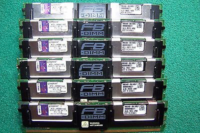 Lot of 6x8GB PC2-5300F Kingston Server Ram