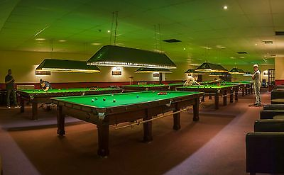 Vintage Full Size Snooker Table Lighting Canopy