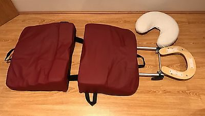 3 Piece Pregnancy Massage Pillow / Body Cushion In Wenger Travel Bag With Wheels