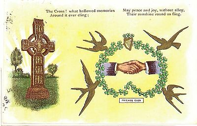 FRIENDS FOREVER-the cross- N P O Belfast series B-IRELAND - Posted 1903 -rm64