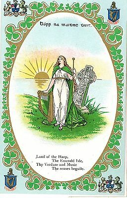 LAND OF THE HARP -gem series  IRELAND Postcard - Posted 1903 -rm60