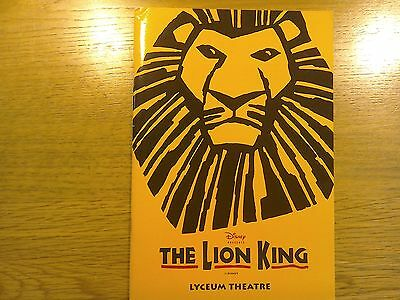 Hand Signed by 5 The Lion King, Theatre programme
