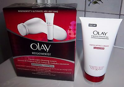 Olay Regenerist 3 Point Super Cleansing System + 150Ml Exfoliating Cleanser New