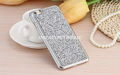 Silver Bling Rhinestone Shockproof Back Case Cover for Samsung Galaxy S7 S002