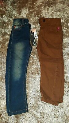 boys age 4 next bn jeans and chinos