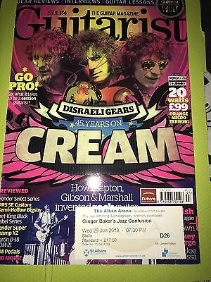 Cream Ginger Baker Autograph And Used Concert Ticket