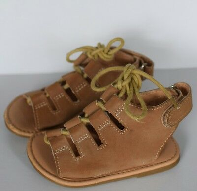 NEXT Baby Girl Suede Tan Lace up sandals size 5