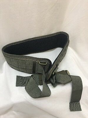 EAGLE INDUSTRIES Padded Military Belt L 75th RANGER GREEN RLCS WAR BELT