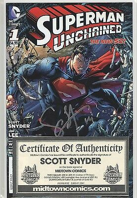 Superman Unchained #1 Signed By Scott Snyder With Coa