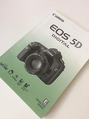 Canon EOS 5D Digital Camera - Original Instruction Manual