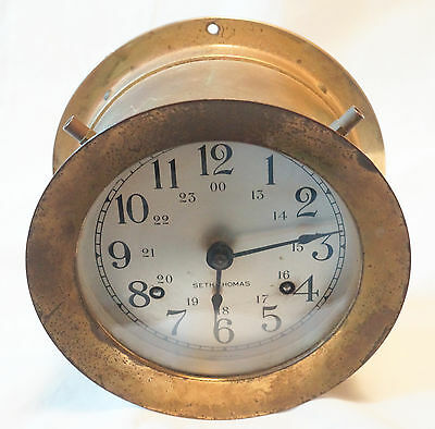 Vintage Seth Thomas Helsman Ships Bell Clock E537-001 AS IS for parts Reair ..