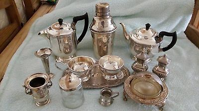 Job lot of 13 items some Viners of Sheffield silver plate