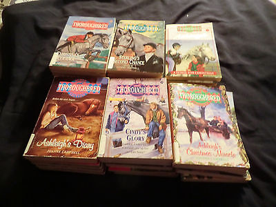 Thoroughbred Saddle Club and Black Stallion Horse Books Lot of 36