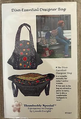 Diva Essential Designer Bag Pattern by Lynndi Enright