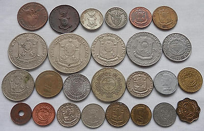 Philippines,  26 Different Type Old And New Coins 1926 To 1997