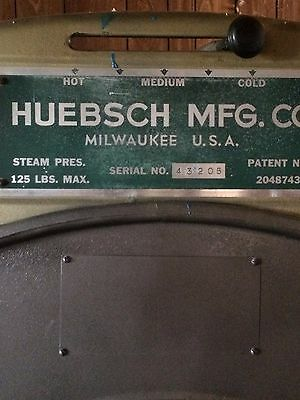 Commercial  Steam Press Dryer Huebsch MFG. Co. Dry Cleaning Equipment