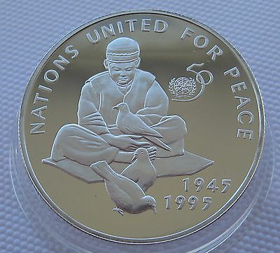 Afghanistan 500 Afghanis 1995 United Nations 50 Years Silver Proof Coin