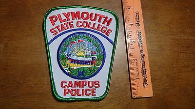 Plymouth State College N. H.  Campus Police  Obsolete Shoulder Patch   Bx K#20