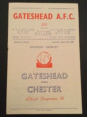 Gateshead v Chester 27/04/57