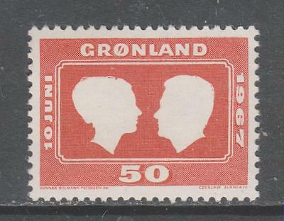 GREENLAND - 1967. Royal Wedding - 50o. Single, MNH