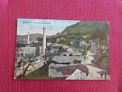 Early Millar & Lang Postcard -Town from the south -  Gibraltar