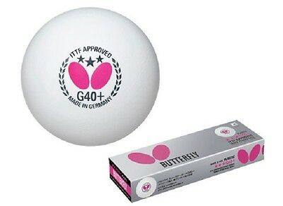 Butterfly G40+ 3-Star 48-Pack Table Tennis Ball ITTF Approved FREE SHPPING!