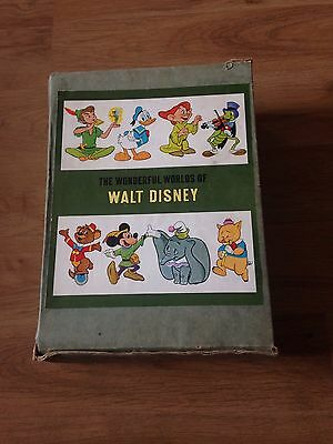 Rare 1965 - The Wonderful Worlds Of Walt Disney - Boxed Book Collection