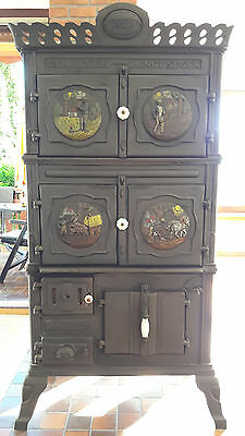 historischer zeus ofen aus gusseisen von 1893 eur 500 00 picclick de. Black Bedroom Furniture Sets. Home Design Ideas