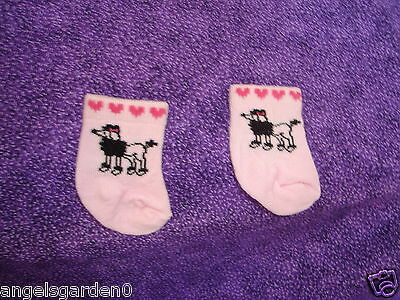 """Pink Poodle Socks for 18"""" Dolls American Girl Doll Clothes"""