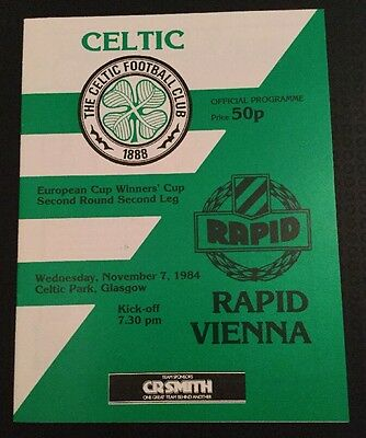 Celtic v Rapid Vienna European Cup Winners Cup 2nd Round 07/11/84