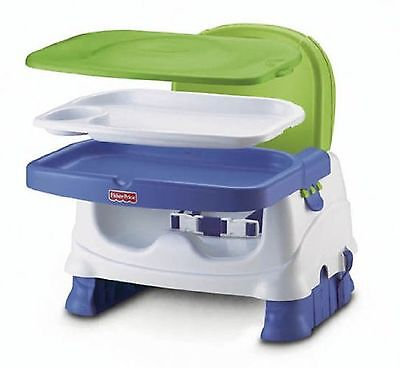 Fisher-Price Healthy Care Deluxe Booster Seat Blue/Green/Gray ✔ FAST SHIPPING ✔